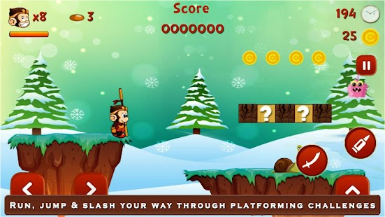 Super Kong Adventure Run: Side Scroller Games Free - náhled