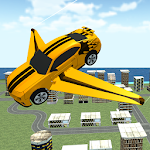 Flying Muscle Transformer Car Icon