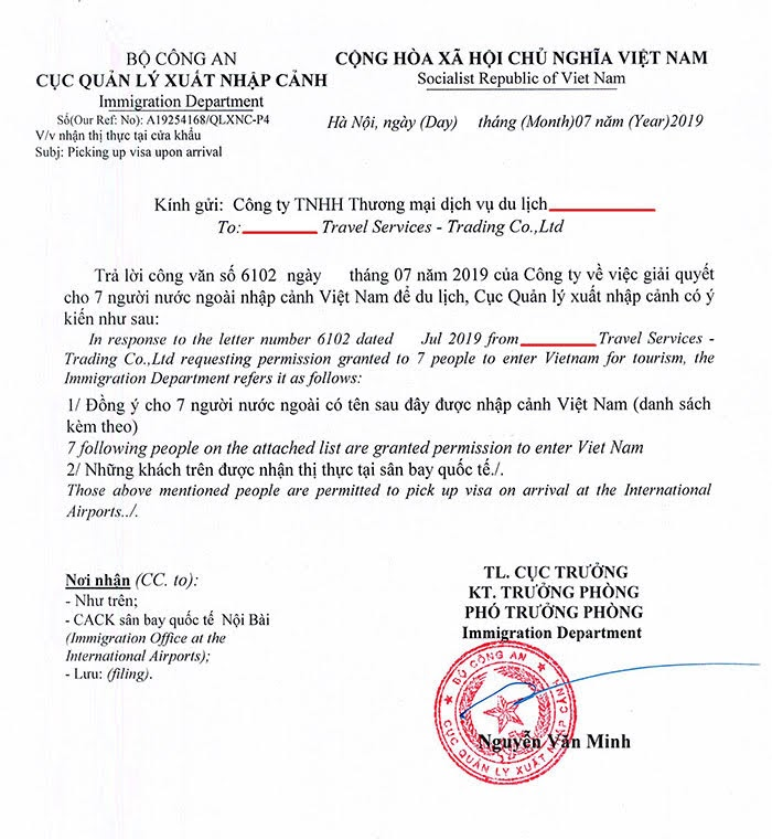 Print your Vietnam visa approval letter, pick your fly ticket and GO!