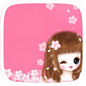 Sakura Cute Girl Theme