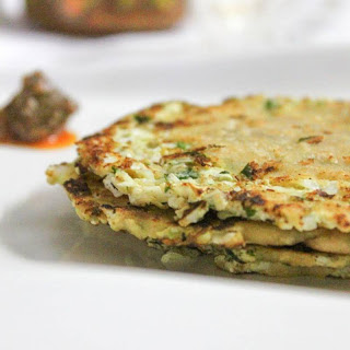 Cabbage Paneer Parathas (Cottage Cheese Stuffed Flat Bread)