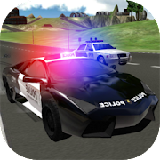 Police Car Driving City