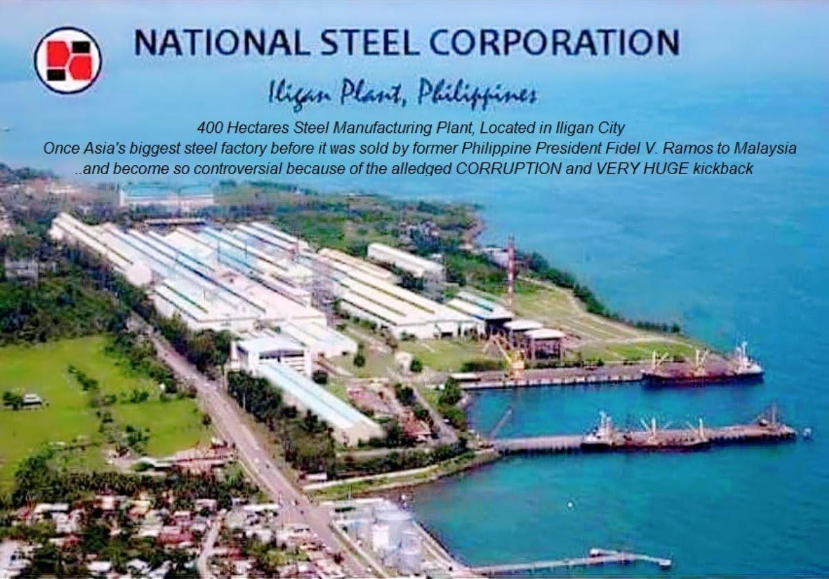 Asia Largest Steel Factory National Steel Corporation (NSC) was sold to Malaysia by Fidel V. Ramos and become controversial for corruption