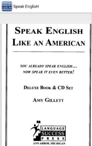 Speak Enligsh like an American