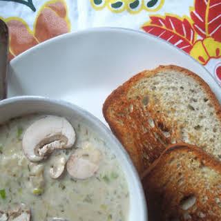 Creamy White Bean and Mushroom Soup.