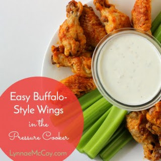 Easy Pressure Cooker Buffalo Style Chicken Wings for Game Day.