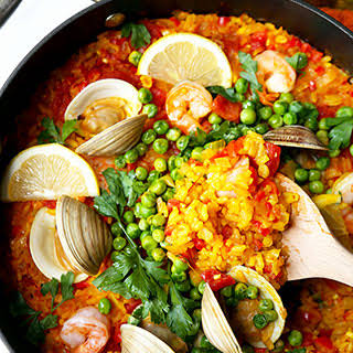 Easy Seafood Paella.