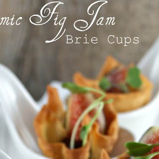 Balsamic Fig Jam Brie Cups