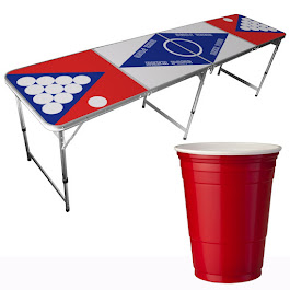 Billiges Beer Pong-Set inkl. 50 Becher