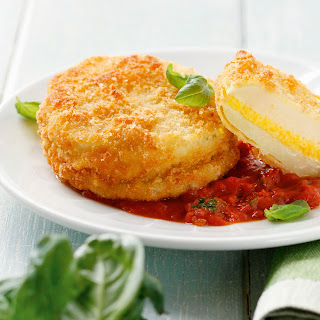 Kohlrabi-Piccata mit Tomatenragout