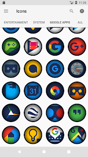 Flat Dark - Icon Pack- screenshot thumbnail