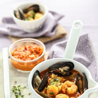 Bouillabaisse with a Red Pepper Rouille Recipe