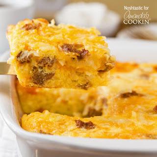 Turkey Hash Brown Breakfast Casserole Recipe