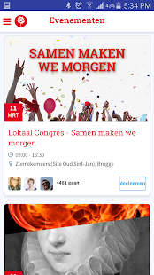 sp.a social netwerk- screenshot thumbnail