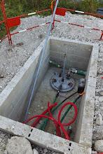 Photo: Cuve à fuel pour groupes électrogènes (Visite de chantier 2 Oct. 2014)