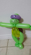 Photo: Balloon Ninja Turtle by Bibbi the Clown, Riverside, Ca. Call to book a Balloon artist today: 888-750-7024