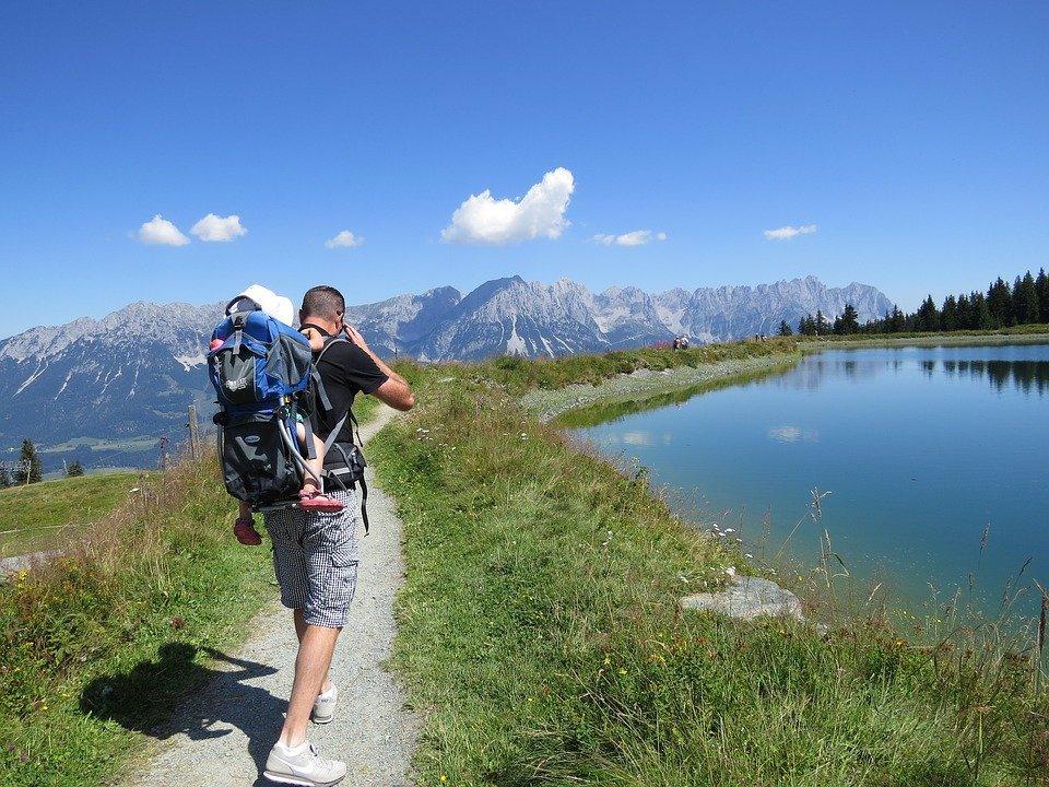Mountains, Travel, Austria, Tyrol, Kaisergebirge, Hiking, Child