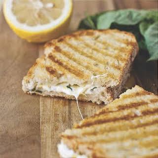 Lemon-Basil Grilled Cheese Panini.
