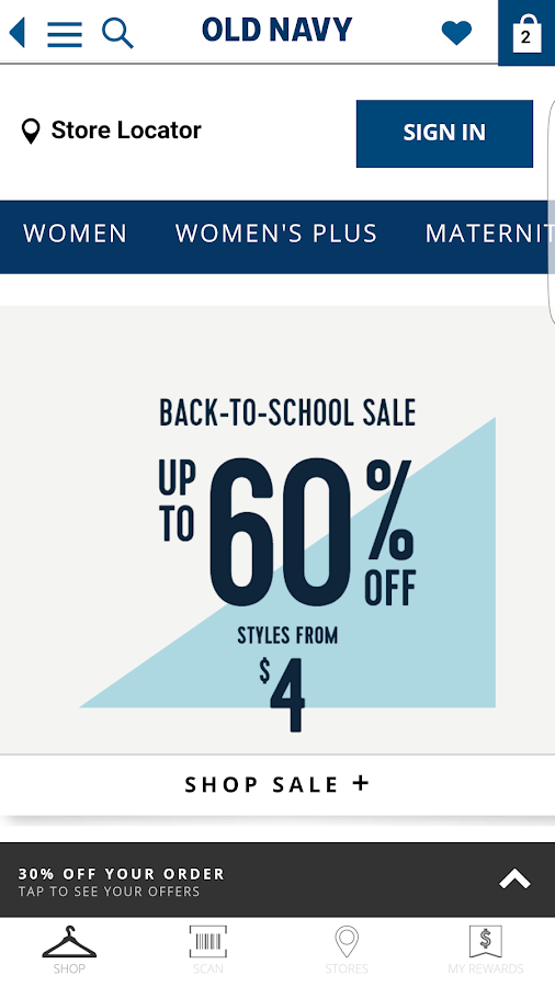 Old Navy- screenshot