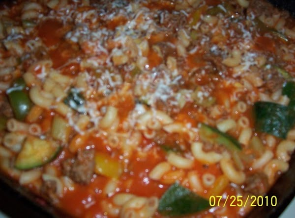 Add your cooked elbow macaroni and 1 cup of water that you cooked the...