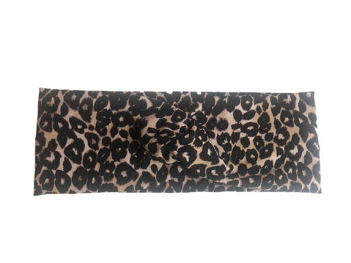 Made by DD - Pannband med twist Leopard