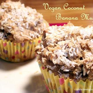 Vegan Coconut Banana Muffins.