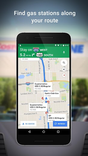 Screenshot 2 for Google Maps's Android app'