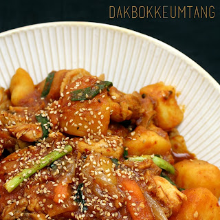 Dakbokkeumtang - Korean Spicy Chicken Stew