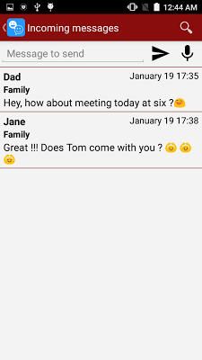 Talking Whatsapp messenger - screenshot