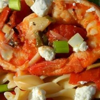 Shrimp Primavera with Goat Cheese