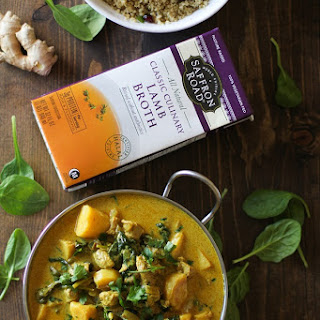 Crock Pot Parsnip and Lamb Curry with Spinach