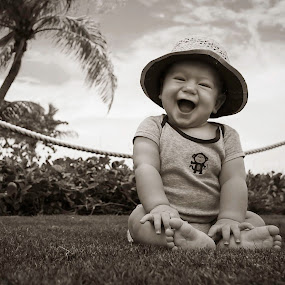 Laugh With Me by Nemanja Stanisic - Babies & Children Babies ( laugh, happy, children, baby, beach, fun, kids, smile, boy, twins, kid,  )