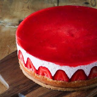 Strawberry Yogurt Mousse Cake.
