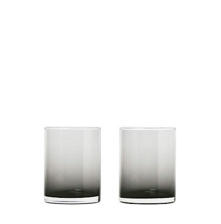 Set 2 Tumbler Glas, Smoke, MERA