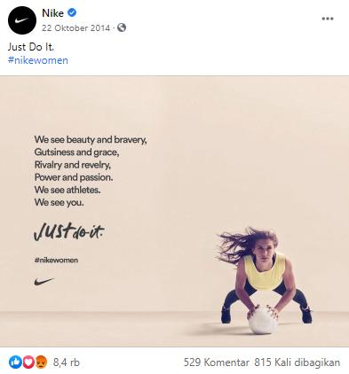 Nike di Facebook