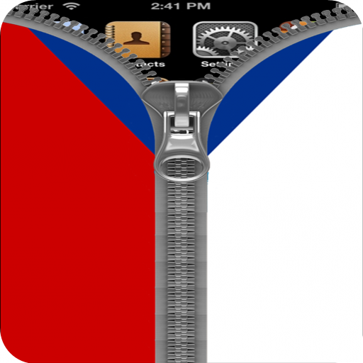 CzechRepublic Flag Zipper Lock