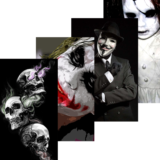 Scary Wallpapers Horror Skull Joker Anonymous Apps On Google Play