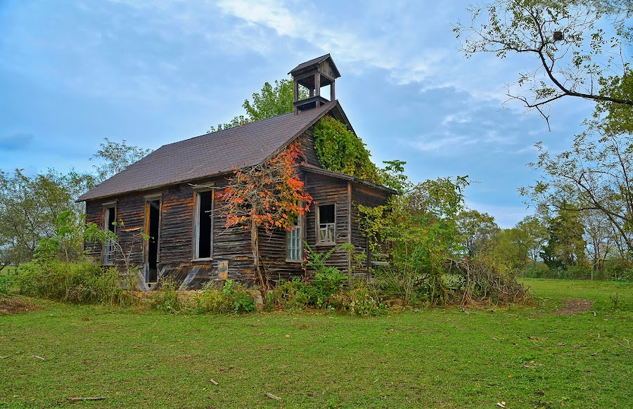 Old one room school by Will Zook - Buildings & Architecture Decaying & Abandoned