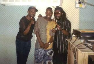 Photo: Litter, Buckie & Snaggerpuss  1991, In Arrows Studio
