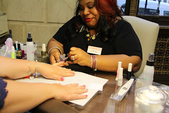 Photo: getting my nails done