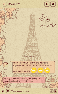 Paris SMS Screenshot