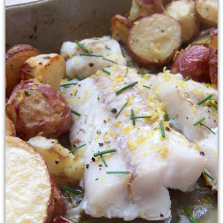 Roast Cod with Crisp Potatoes