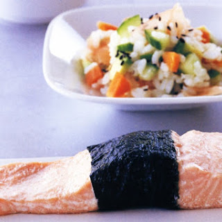 Steamed Ocean Trout With Sushi Salad