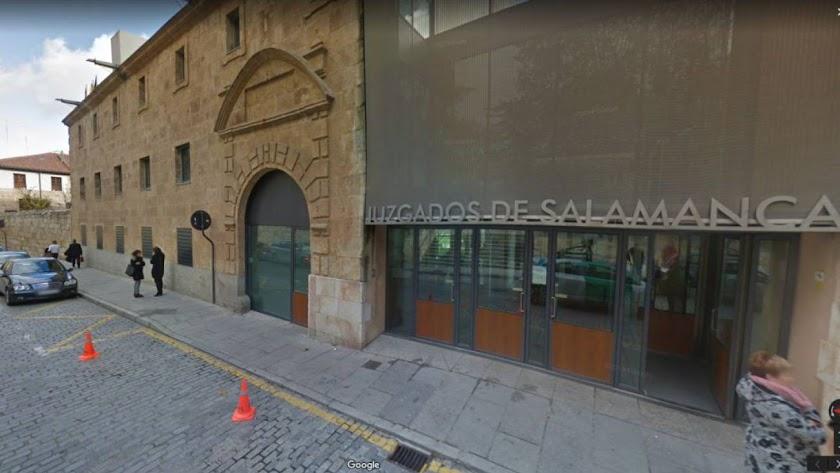 Imagen de los Juzgados de Salamanca ubicados en la Plaza de Colón de la ciudad. / Google Maps