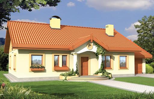 projekt Sielanka 2 100 MDM wersja A z pojedynczym garażem