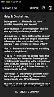 R-Calc LITE - Risk/Reward calculator - náhled