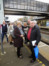 Photo: Happy Paulerspury Section members awaith the train at Bedford
