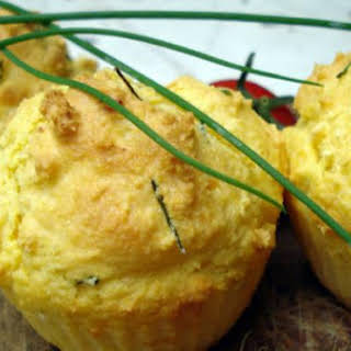 Savory Corn And Chives Muffins.
