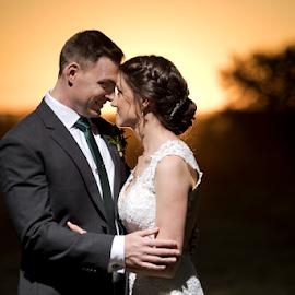 Just us by Lood Goosen (LWG Photo) - Wedding Bride & Groom ( weddingphotographer, couple, wedding photography, bride and groom, bride groom, weddings, sunset, wedding day, wedding photographers, weddingphotography, weddingphotograhers )
