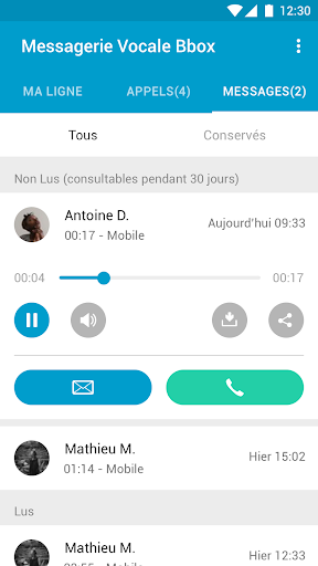 Messagerie Vocale Bbox  screenshots 4